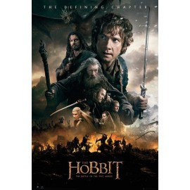 MAXI POSTER THE HOBBIT BATTLE OF FIVE ARMIERS