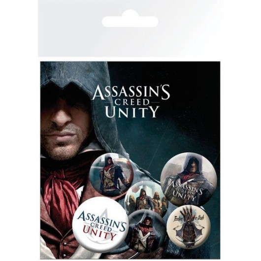 PACK CHAPAS ASSASSING CREED UNITY MIX