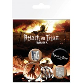 Pack De Chapas Attack On Titan Characters