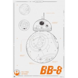 MAXI POSTER STAR WARS BB-8