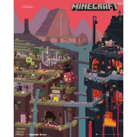 Mini Poster Minecraft World