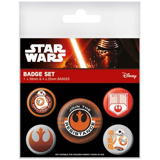 PACK CHAPAS STAR WARS EPISODE VII (RESISTANCE)