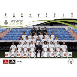 Postal A5 Real Madrid Plantilla 2015/2016