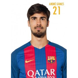 Postal Fc Barcelona 2016/2017 Andre Gomes