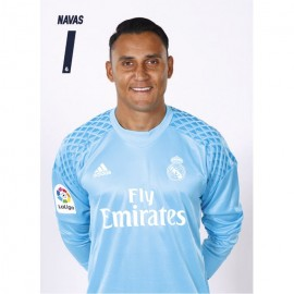 Postal Real Madrid 2016/2017 Navas Busto