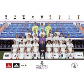 Postal Real Madrid 2016/2017 Plantilla