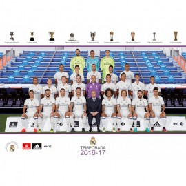 Postal Real Madrid A4 2016/2017 Plantilla
