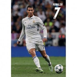 Postal Real Madrid A4 2016/2017 Ronaldo Accion