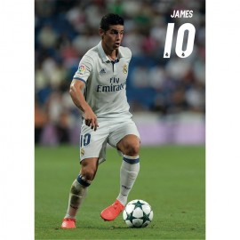 Postal Real Madrid A4 2016/2017 James Accion