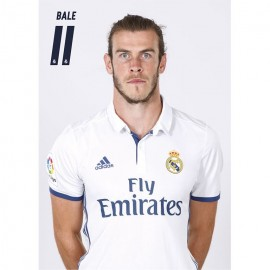 Postal Real Madrid A4 2016/2017 Bale Busto