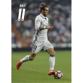 Postal Real Madrid 2016/2017 Bale Accion