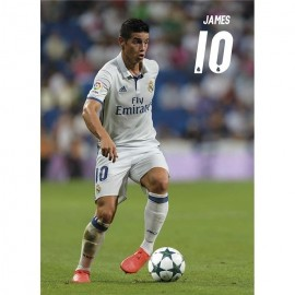 Postal Real Madrid 2016/2017 James Accion