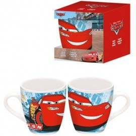 Taza Barrilete Ceramica Cars Racing Sports Network En Estuche