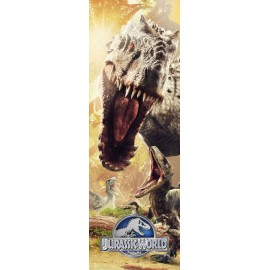 Bp0066 Poster Puerta Jurassic World Attack