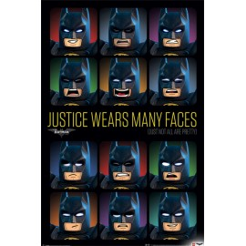 Poster Lego Batman Justice Wears Many Face