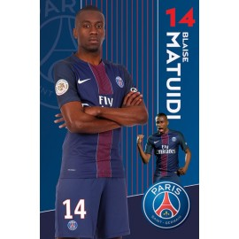 Poster Paris Saint-Germain 2016-2017 Matuidi