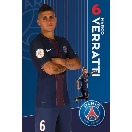 Poster Paris Saint-Germain 2016-2017 Verratti