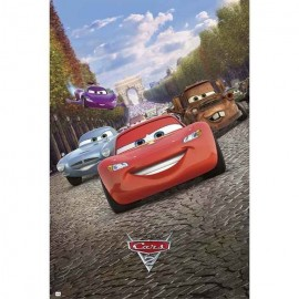 Poster Cars 2 - Torre Eiffel