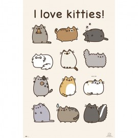 Poster Pusheen The Cat I Love Kitties