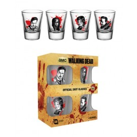 Set 4 Vasos Chupito The Walking Dead Characters