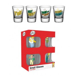 Set 4 Vasos Chupito The Simpsons Quotes