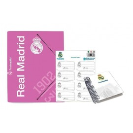 Pack Papeleria Real Madrid Rosa