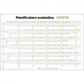 Poster Planificador Escolar 2017/2018 Horizontal It