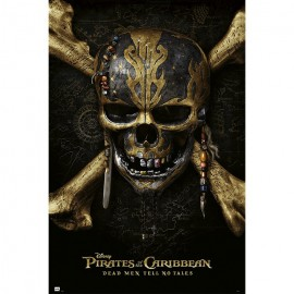 Poster Pirates Of The Caribbean Dead Men Tell No Tales Skull