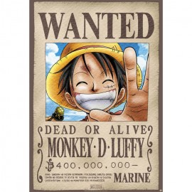 Poster One Piece Wanted Luffy