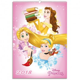 Calendarios A3 2018 Disney Princess