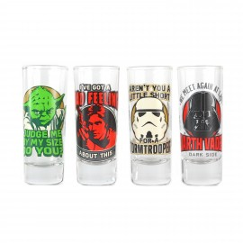 Glasses Mini Set Of 4 - Star Wars (Quotes)