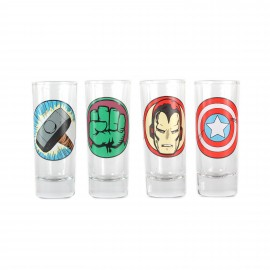 Glasses (Mini) Set Of 4 - Marvel (Characters)