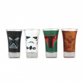 Glasses Mini Set Of 4 - Star Wars (Characters)