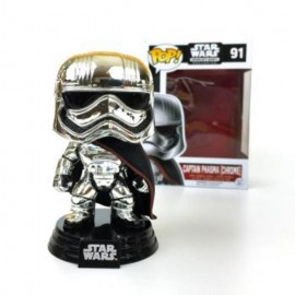 Pop Bobble Star Wars Captain Phasma Chrome