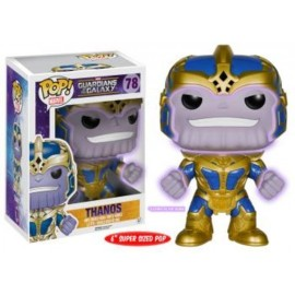 "Pop Bobble Marvel Gotg Thanos Oversized 6"" Gitd"