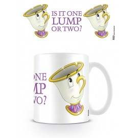 Taza Mug Beauty And The Beast Chip One Lump Or Two?