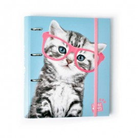 CARPETA 4 ANILLAS TROQUELADA PREMIUM STUDIO PETS CAT CAMERA