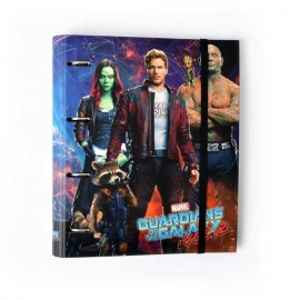 Carpeta 4 Anillas Troquelada Premium Marvel Guardians Of The Galaxy