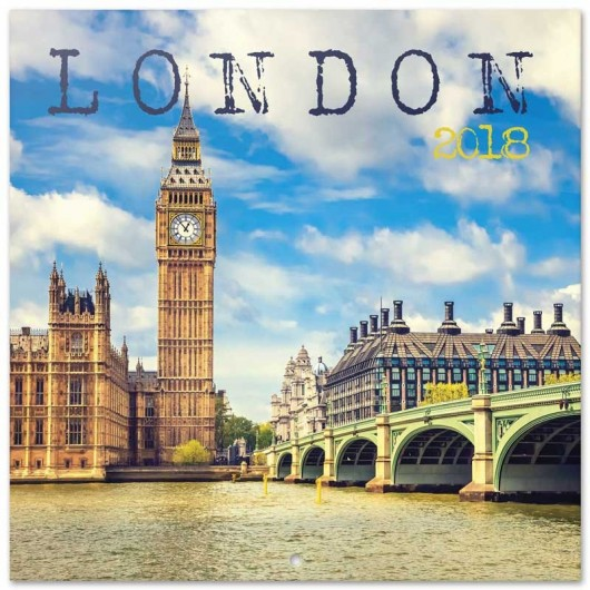 Calendario 2018 30X30 London Color