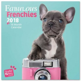 Calendario 2018 30X30 Studio Pets French Bulldog