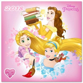 Calendario 2018 30X30 Disney Princess