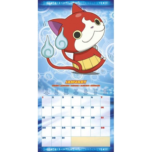 Calendario 2018 30X30 Yo-Kai Watch