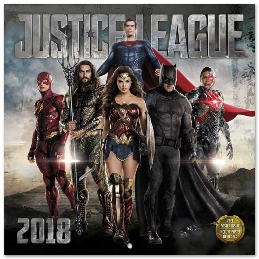 Calendario 2018 30X30 Dc Comic Justice League