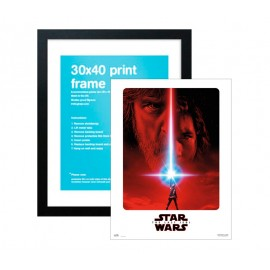 Pack Print 30X40 cm Star Wars VIII The Last Jedi + Marco