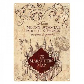 Tin Sign Small - Harry Potter (Marauders Map)