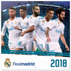 Calendario 2018 30X30 Real Madrid
