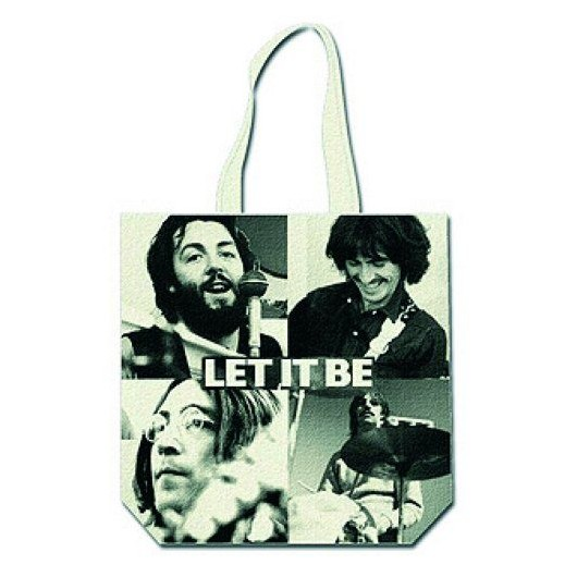 Bolso Tela The Beatles Let It Be Black & White