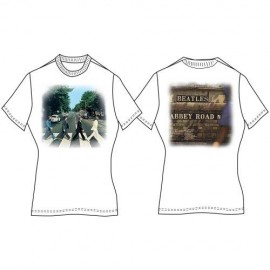 Camiseta The Beatles Abbey Road Ladies White Vintage