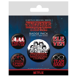 PACK CHAPAS STRANGER THINGS LOGO