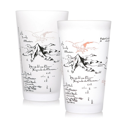 VASO TERMOCOLORO THE HOBBIT MAP